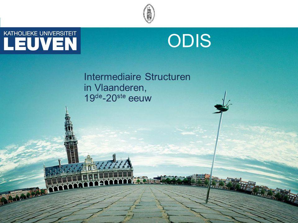 ODIS Intermediaire Structuren in Vlaanderen, 19 de -20 ste eeuw