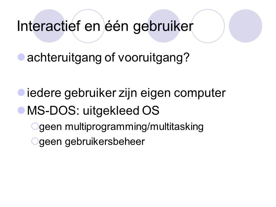 Interactief en één gebruiker achteruitgang of vooruitgang.