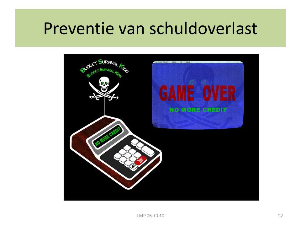 LMP 06.10.1022 Preventie van schuldoverlast