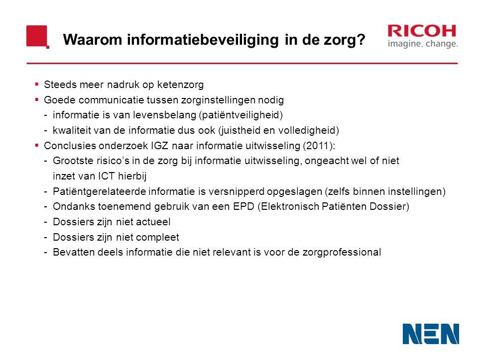 Waarom informatiebeveiliging in de zorg.