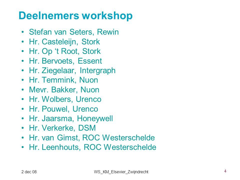 15 2 dec 08WS_KM_Elsevier_Zwijndrecht ISO15926-4 Dictionary