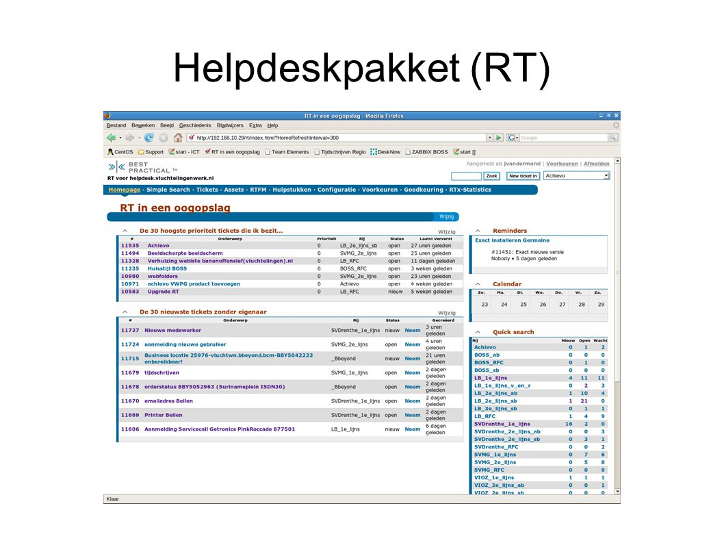 Helpdeskpakket (RT)