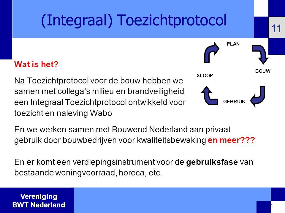 Vereniging BWT Nederland 11 (Integraal) Toezichtprotocol 11 Wat is het.
