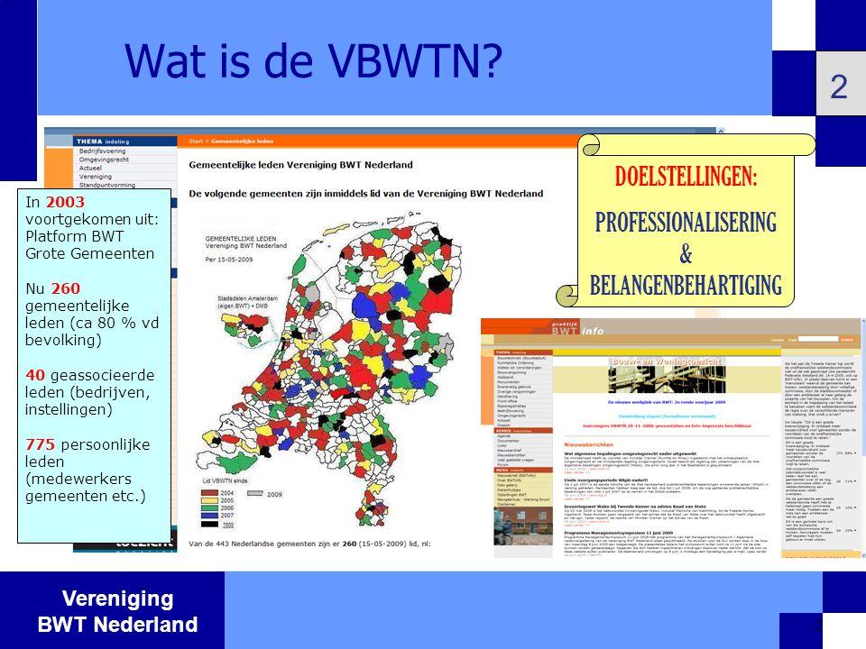 Vereniging BWT Nederland 13 Andere tijden op komst 13 Besluit omgevingsrecht > tot 57 % afname aantal vergunningen Certificering BRL5019> minder toetswerk door gemeenten Wabo / omgevingsdiensten > integraal werken, beïnvloeding door werk- en denkkader milieu en brandveiligheid Aandacht en capaciteit verschuiven naar toezicht en handhaving Voorwaarde:Algemene middelen en professionaliteit!