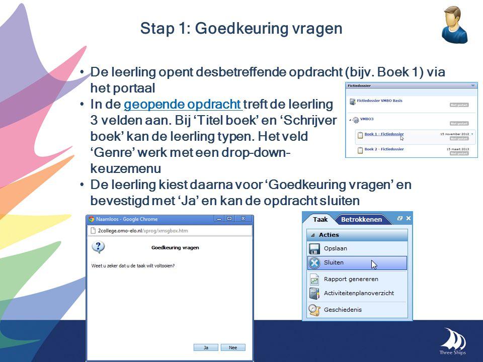 De leerling opent desbetreffende opdracht (bijv. Boek 1) via het portaal In de geopende opdracht treft de leerlinggeopende opdracht 3 velden aan. Bij