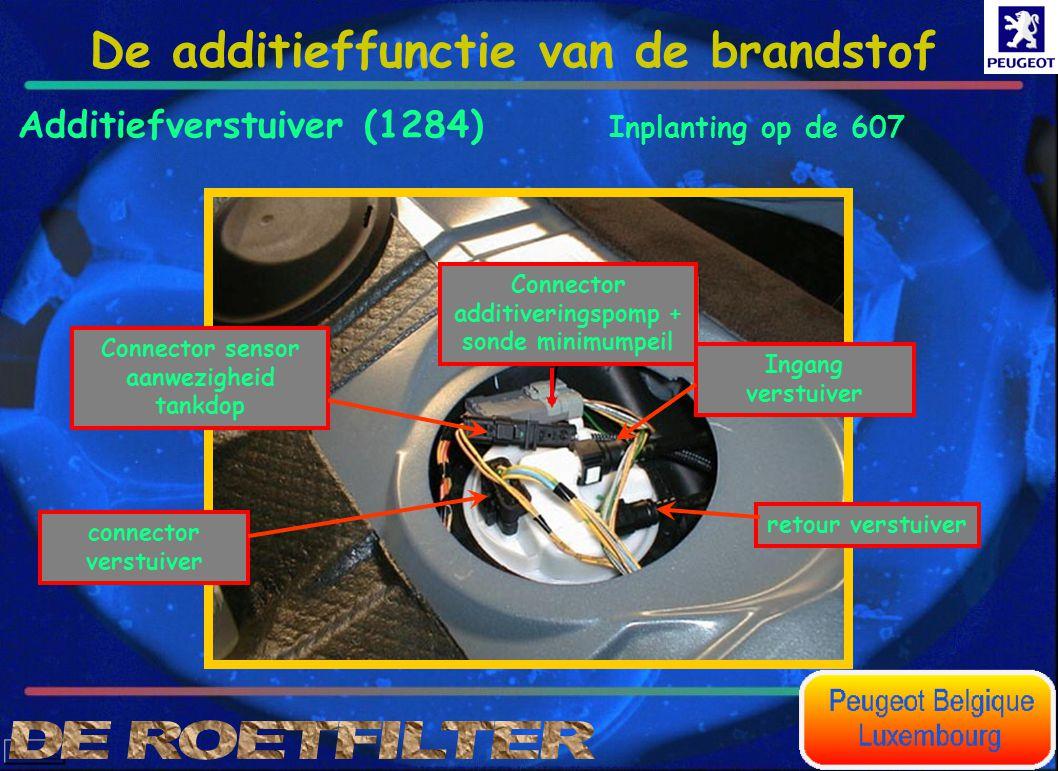 Connector additiveringspomp + sonde minimumpeil Additiefverstuiver (1284) Ingang verstuiver retour verstuiverConnector sensor aanwezigheid tankdop con