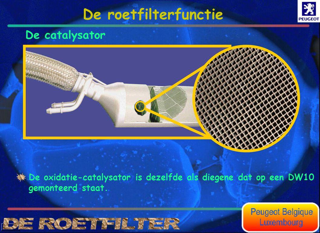 De catalysator De oxidatie-catalysator is dezelfde als diegene dat op een DW10 gemonteerd staat. De roetfilterfunctie