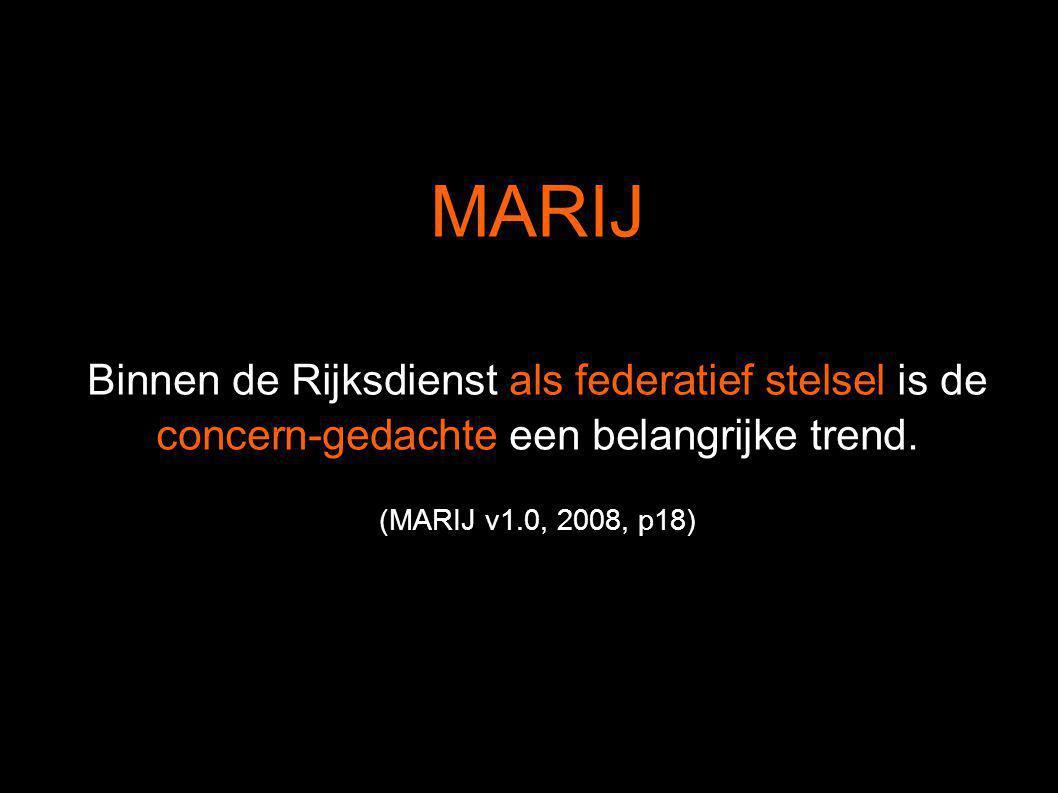 MARIJ Binnen de Rijksdienst als federatief stelsel is de concern-gedachte een belangrijke trend.