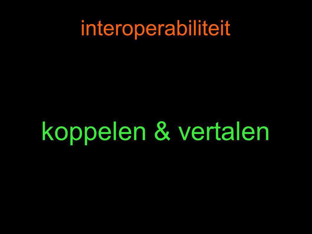 interoperabiliteit koppelen & vertalen