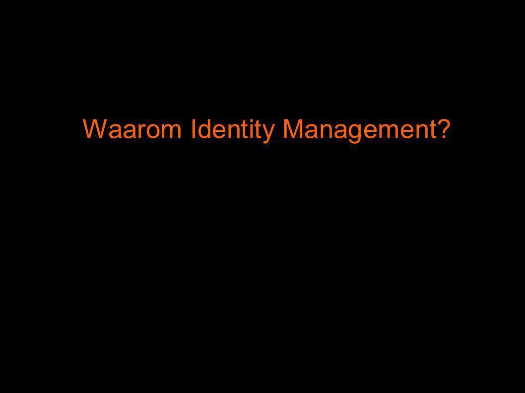 Doel is om op geautomatiseerde wijze persona te kunnen identificeren, authenticeren en autoriseren, bereikbaar te maken (via contactgegevens) of om gepersonaliseerde informatie en diensten aan te bieden.