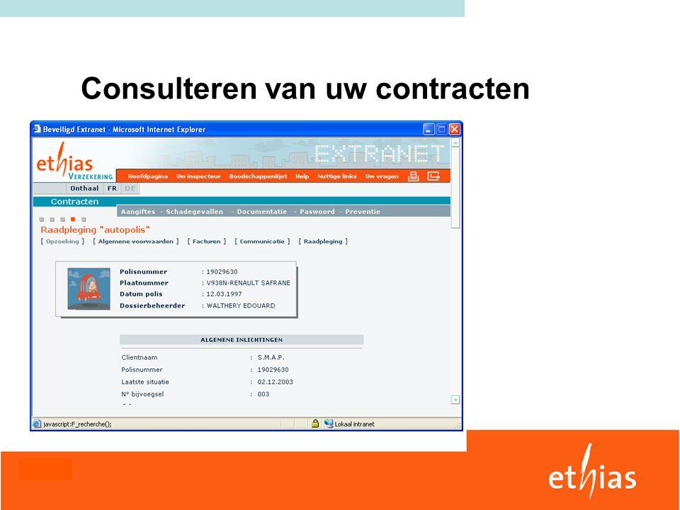 Consulteren van uw contracten