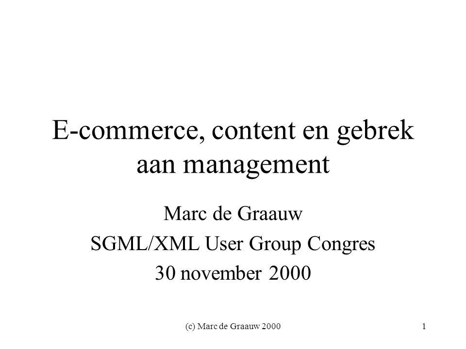 (c) Marc de Graauw 200032 Over de auteur Marc de Graauw is afgestudeerd in de filosofie en meer dan 10 jaar werkzaam in de IT, de laatste 3 jaar als onafhankelijk consultant.