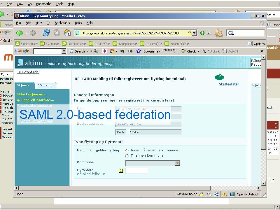 PIP bouwt mee aan de e-overheid Persoonlijke Internetpagina SAML 2.0-based federation