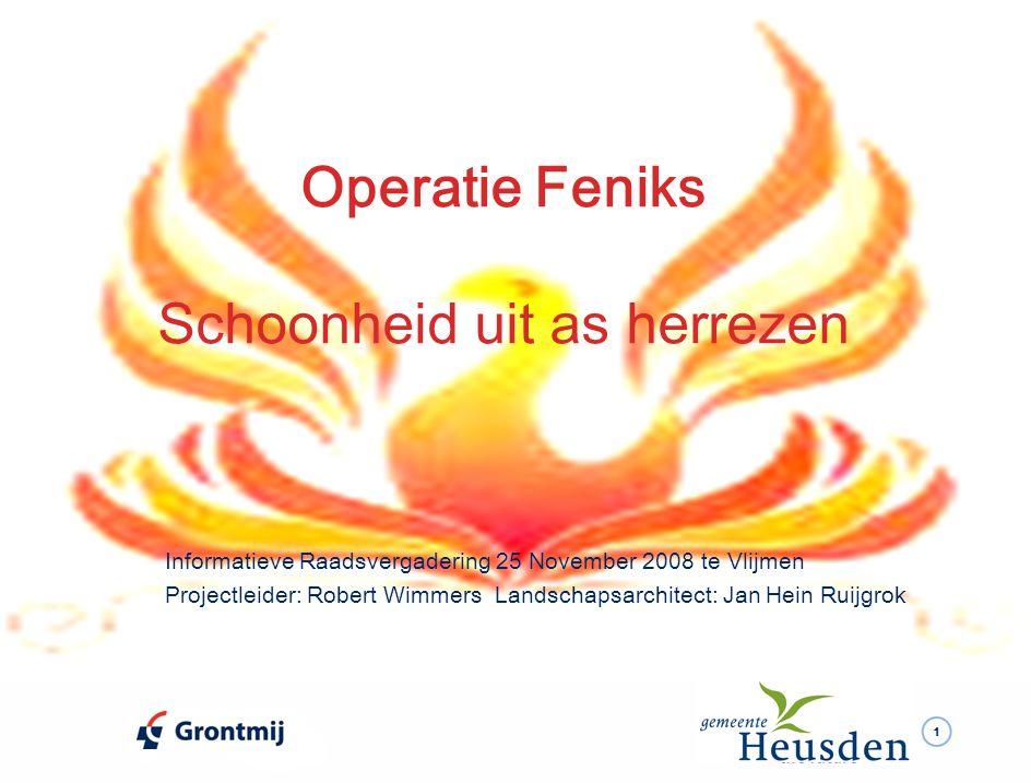 2 Doelen  Laat in de gemeente Heusden iets moois herrijzen.