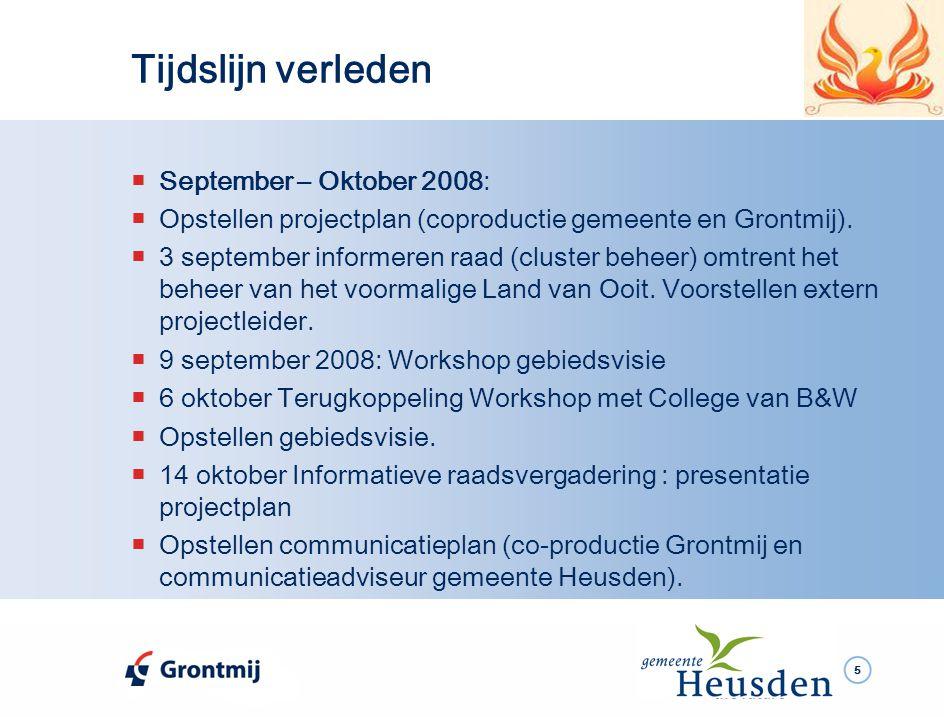 26  Mei – December 2009:  Het beoordelen van de bidbooks van de partijen die hebben ingeschreven.