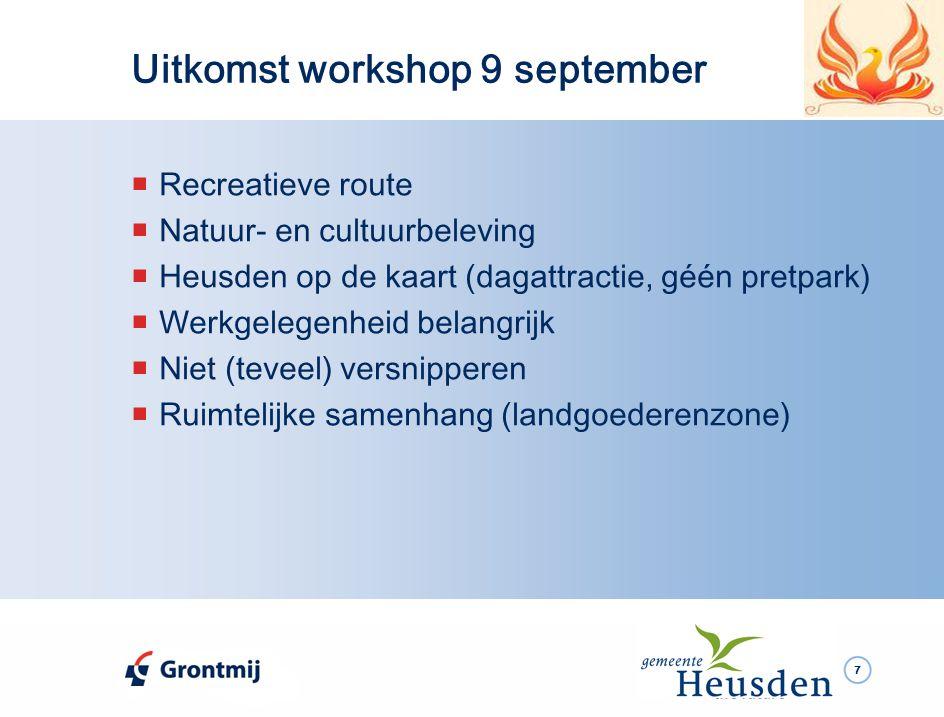 8 Uitkomst workshop Recreatieve Routes