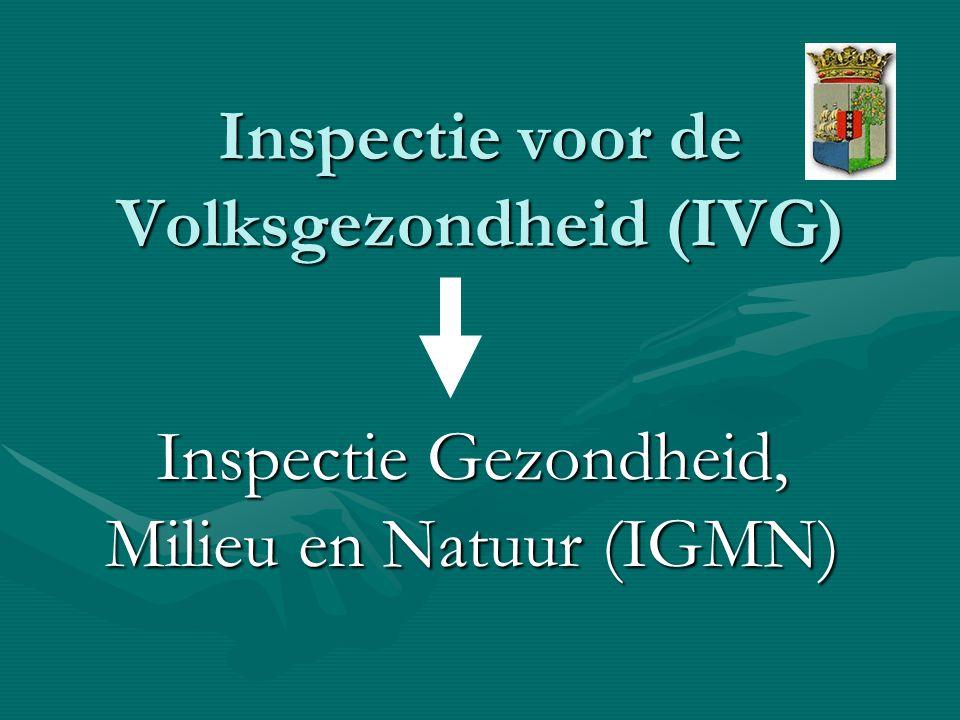 Inspectie voor de Volksgezondheid (IVG) Inspectie Gezondheid, Milieu en Natuur (IGMN)