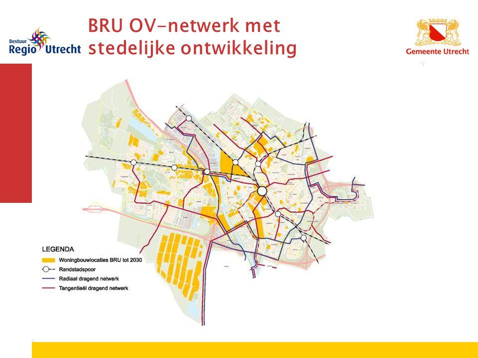 BRU OV-netwerk met stedelijke ontwikkeling