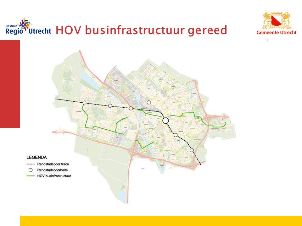 HOV businfrastructuur gereed + toekomst