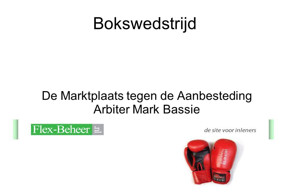 Bokswedstrijd De Marktplaats tegen de Aanbesteding Arbiter Mark Bassie