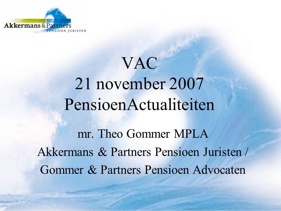 Inhoud inleiding; kabinetsplannen; DGA en pensioen; pensioen en echtscheiding.