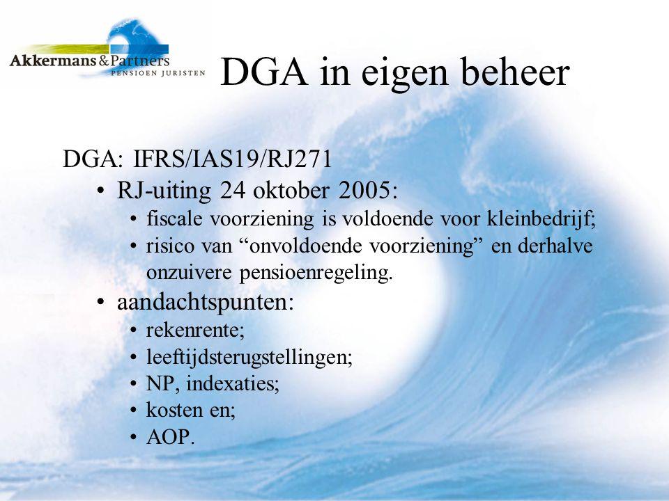 DGA en pensioen (1) inkoop dienstjaren; uitgangspunten; 10a, 10b lid 1 f en lid 2 uitv.besl.
