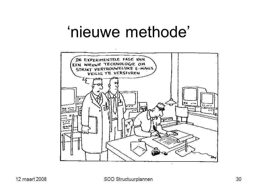 12 maart 2008SOD Structuurplannen30 'nieuwe methode'