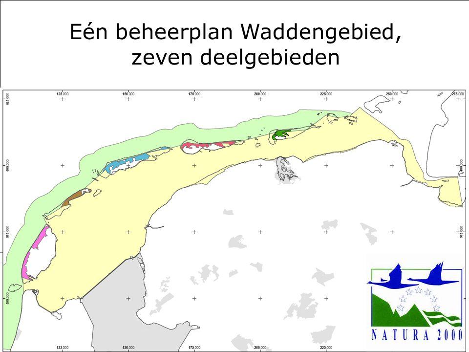 Rijkswaterstaat 222 april 2010 Eén beheerplan Waddengebied, zeven deelgebieden