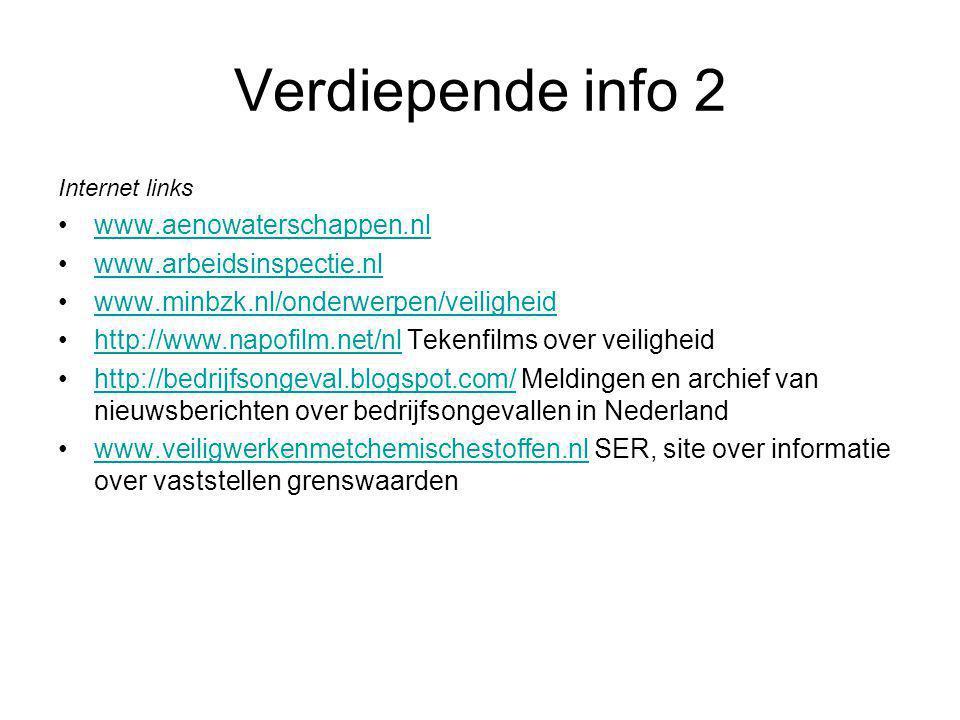 Verdiepende info 2 Internet links www.aenowaterschappen.nl www.arbeidsinspectie.nl www.minbzk.nl/onderwerpen/veiligheid http://www.napofilm.net/nl Tek