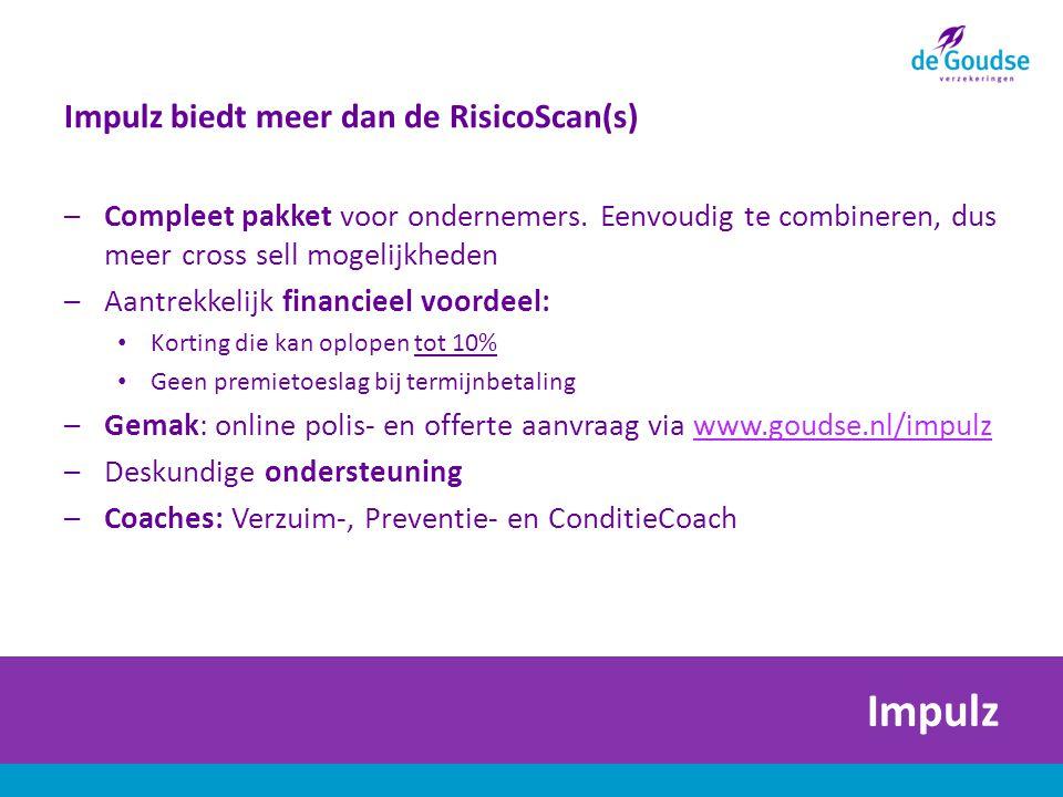 Impulz Impulz biedt meer dan de RisicoScan(s) –Compleet pakket voor ondernemers.
