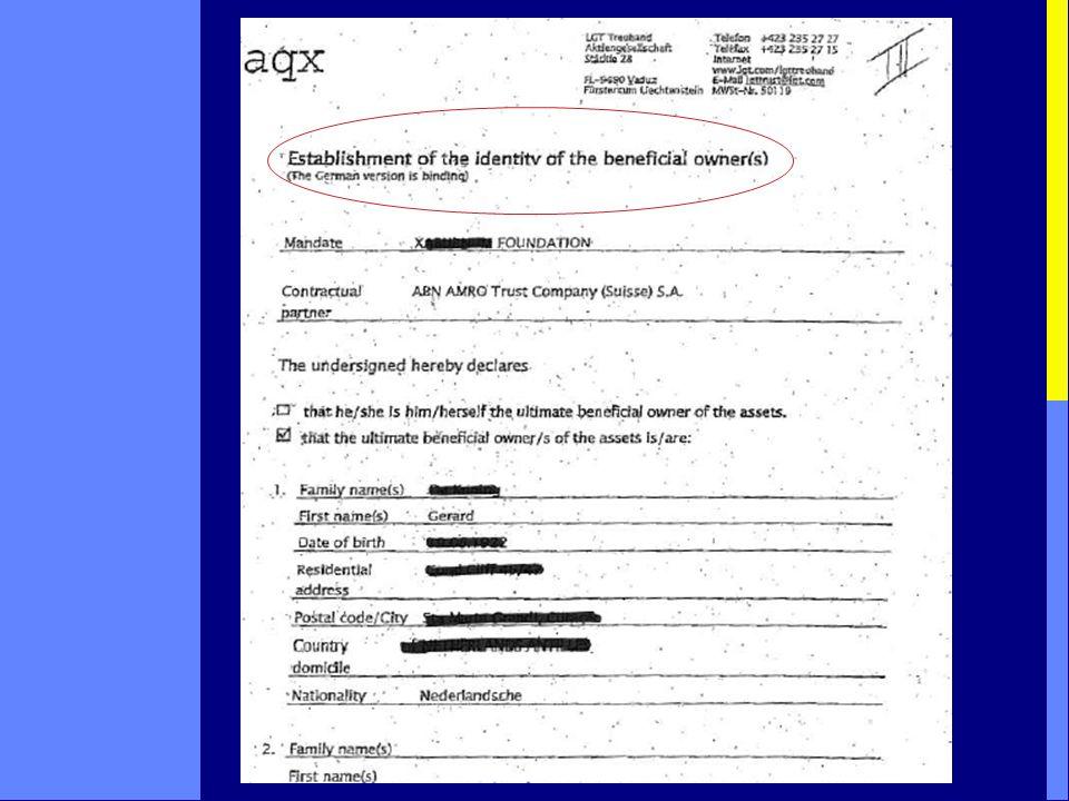 formulieren trustkantoor/bank inschrijvingsformulieren KvK Curaçao ruling/afspraak met Antilliaanse fiscus letter of attorney letter of comfort (incidenteel) …………..