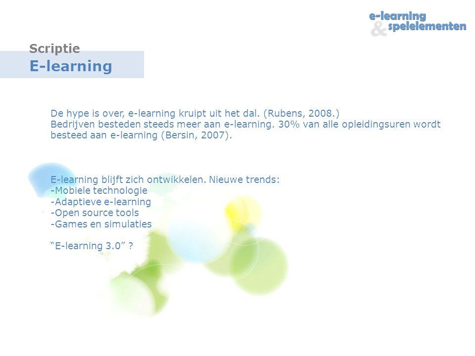 E-learning De hype is over, e-learning kruipt uit het dal.