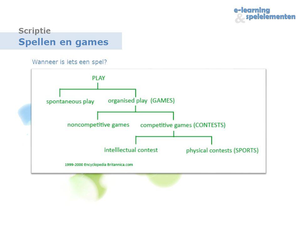 Spellen en games Wanneer is iets een spel? Scriptie