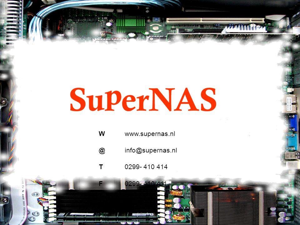 Wwww.supernas.nl @info@supernas.nl T0299- 410 414 F0299- 410 411