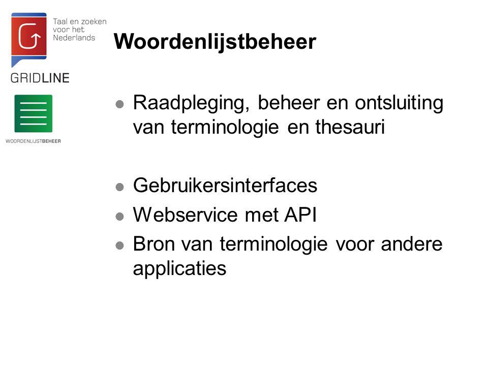 Woordenlijstbeheer Tweetalige woordenlijst