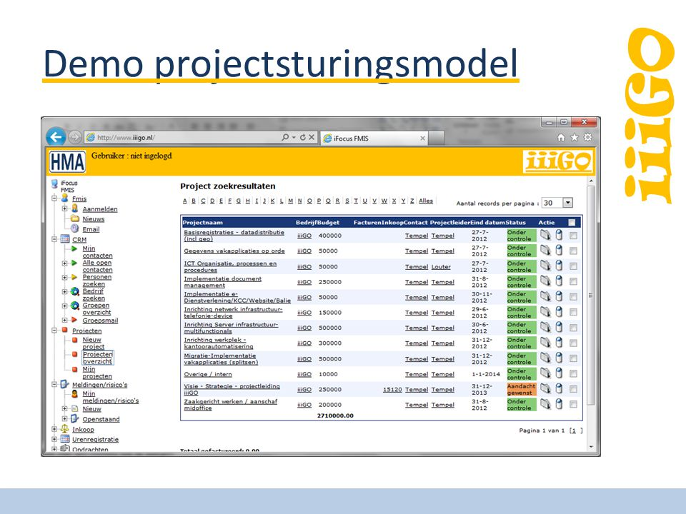 iiiGO Demo projectsturingsmodel