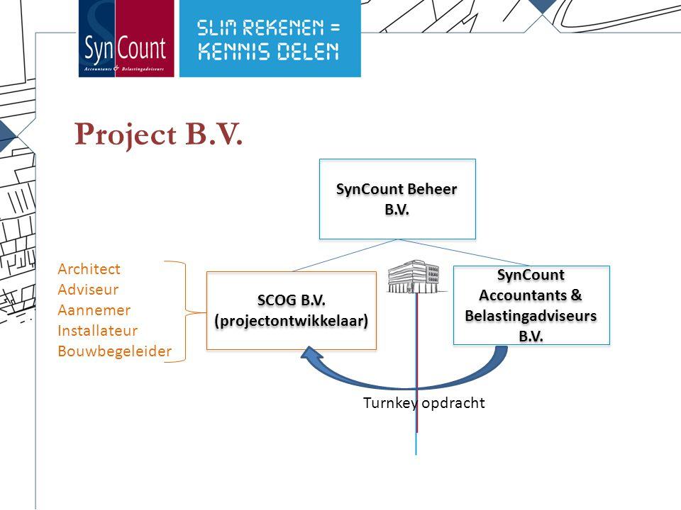 Project B.V. SynCount Beheer B.V. SynCount Accountants & Belastingadviseurs B.V. SCOG B.V. (projectontwikkelaar) SCOG B.V. (projectontwikkelaar) Archi