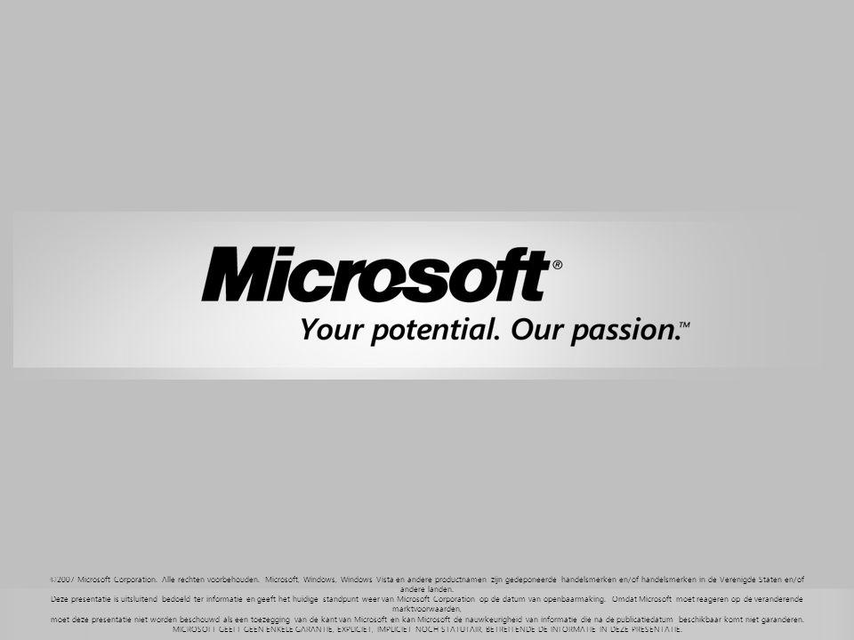 ©2007 Microsoft Corporation.Alle rechten voorbehouden.
