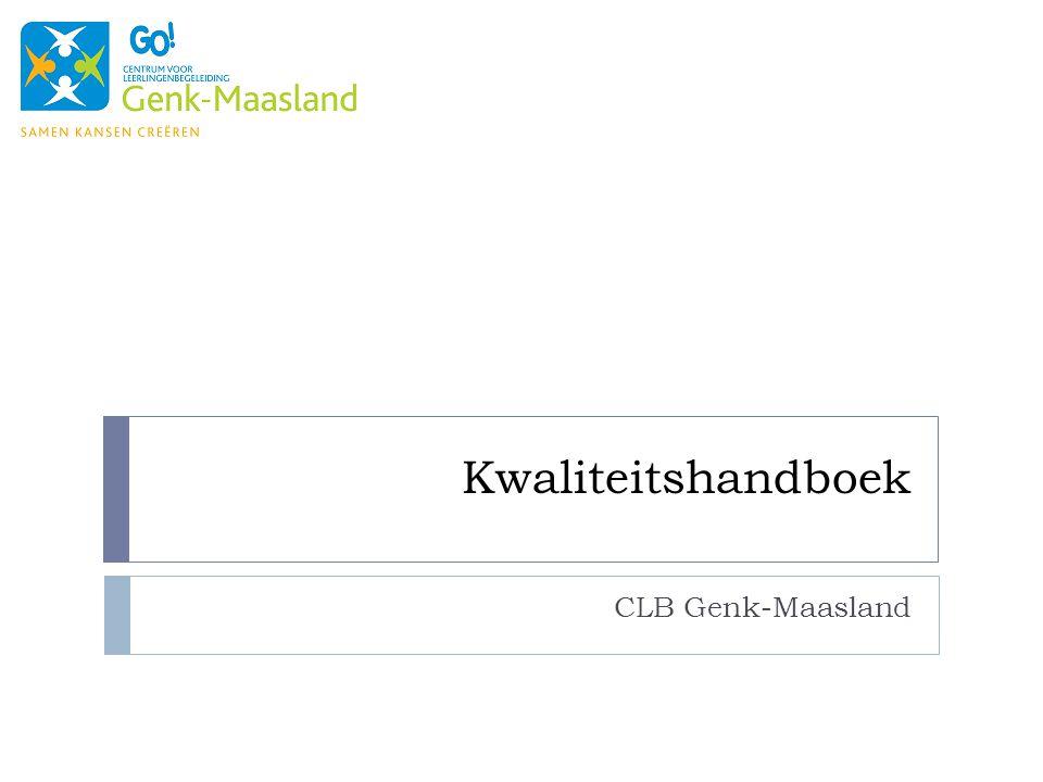 Kwaliteitshandboek CLB Genk-Maasland