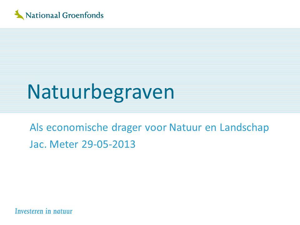 Natuurbegraven Als economische drager voor Natuur en Landschap Jac. Meter 29-05-2013