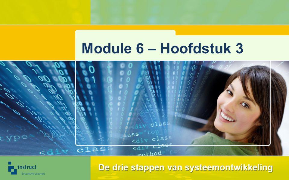 Module 6 – Hoofdstuk 3 De drie stappen van systeemontwikkeling