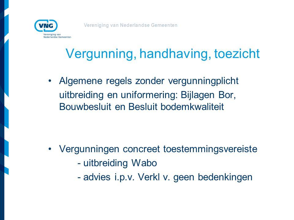 Vereniging van Nederlandse Gemeenten Vergunning, handhaving, toezicht Algemene regels zonder vergunningplicht uitbreiding en uniformering: Bijlagen Bo