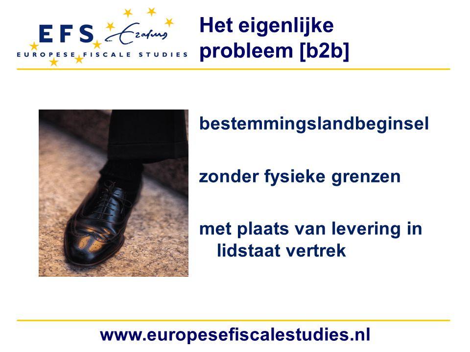 www.europesefiscalestudies.nl Bewijslast nultarief b2b (denk ook aan ABC- leveringen) IUL gunstiger behandeld (geen voorfinanciering) 0% = fraudegevoelig De consequenties: