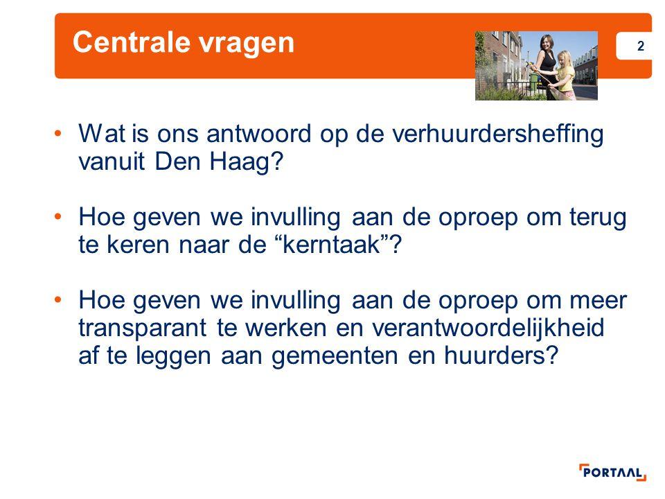 Centrale vragen Wat is ons antwoord op de verhuurdersheffing vanuit Den Haag.