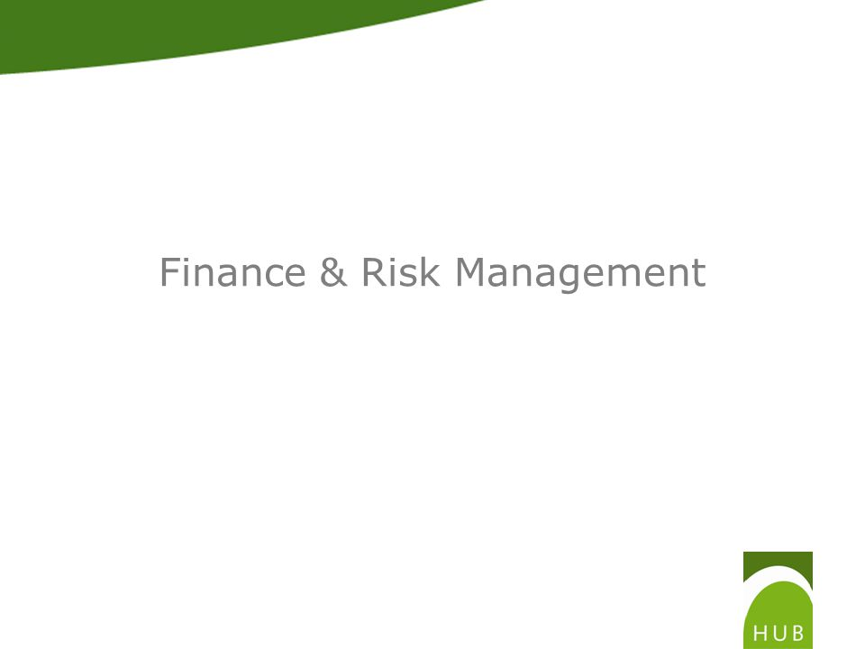 Finance & Risk Management