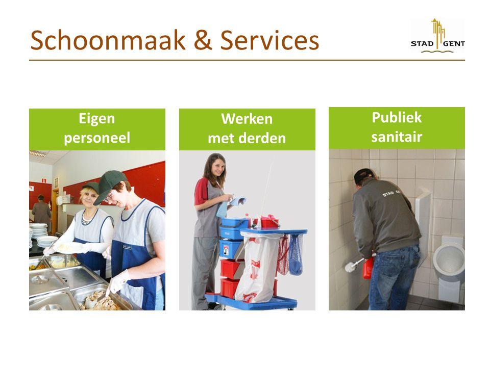Schoonmaak & Services Eigen personeel Werken met derden Publiek sanitair