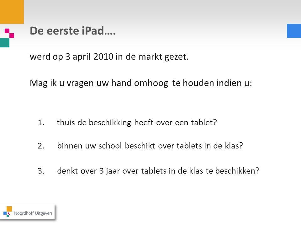 De eerste iPad….werd op 3 april 2010 in de markt gezet.