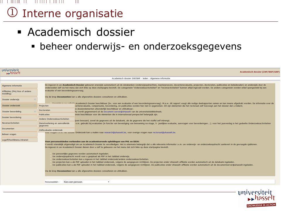  Academisch dossier  beheer onderwijs- en onderzoeksgegevens