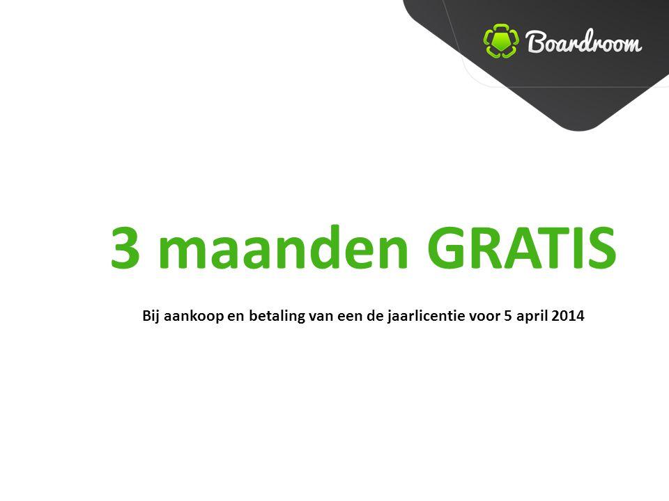 3 maanden GRATIS Bij aankoop en betaling van een de jaarlicentie voor 5 april 2014