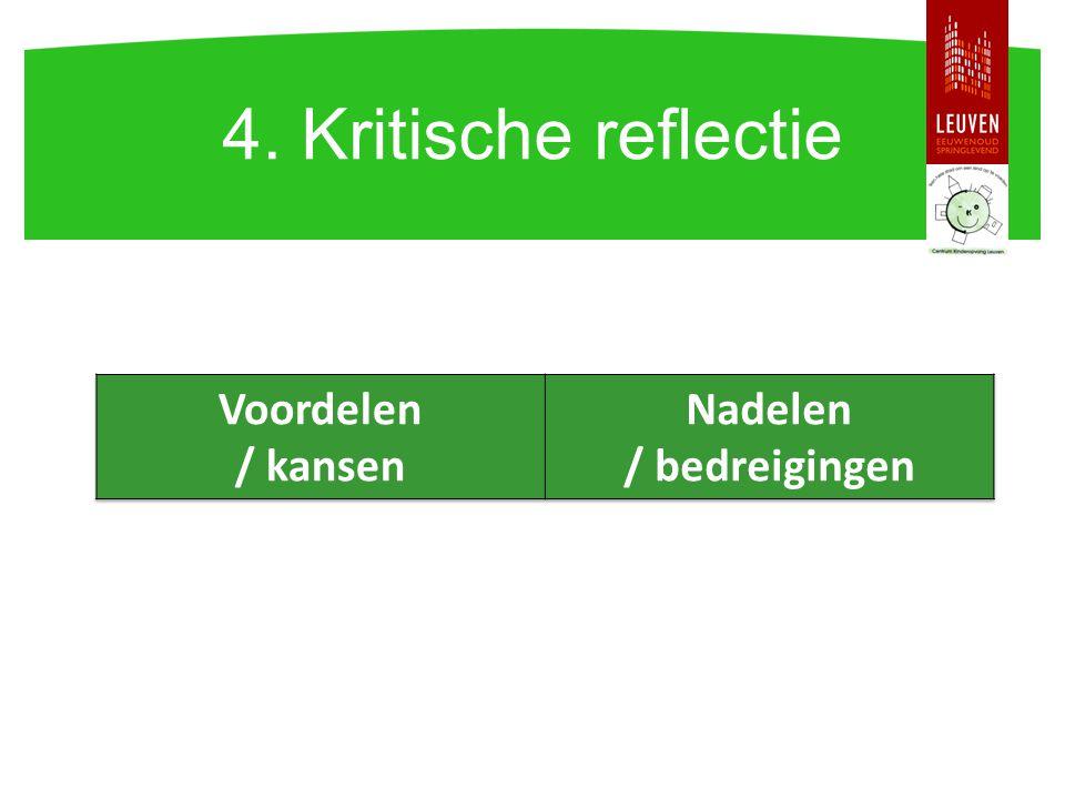 4. Kritische reflectie